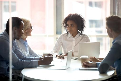 Sales team in a meeting